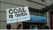 Protests against Citibank coal financing