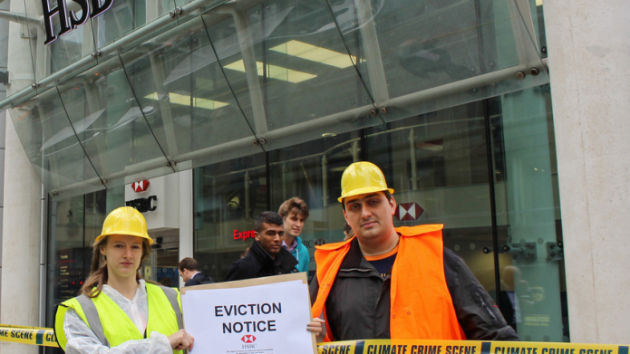 BankTrack – HSBC shuts down City branch in face of climate protest