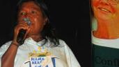 Indigenous woman making a speech