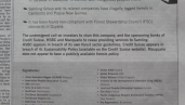NGO letter on Samling share issue