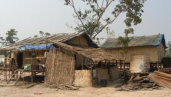 Temporary houses in Ban Done resettlement village