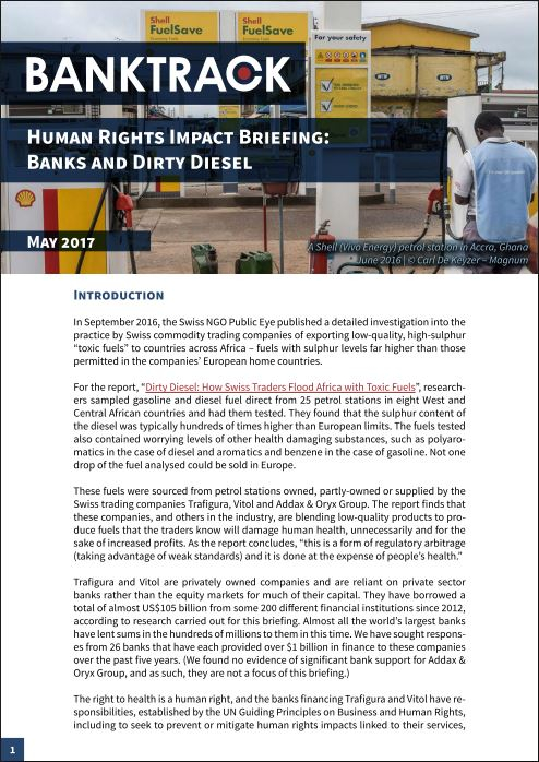 Human Rights Impact Briefing #3 front page