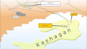 Map of Kashagan oil field. Source: Agip KCO