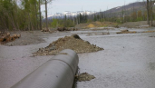 Erosion control measures cannot cope with spring flmeltwaters